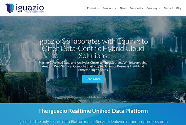 The Iguazio Enterprise Data Cloud is a next gen Amazon-like data platform-as-a- service for on-prem and hybrid clouds.