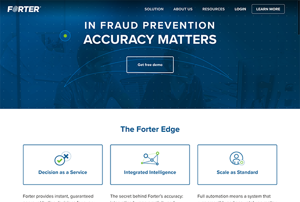 Forter's fraud system is the most accurate solution that actually boosts revenue