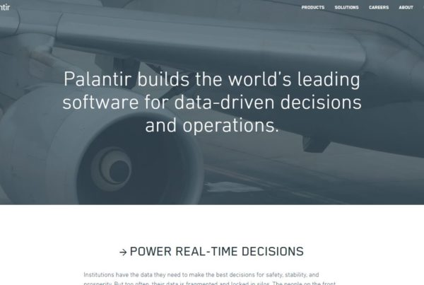 Palantir builds the world's leading software for  data-driven decisions and operations.