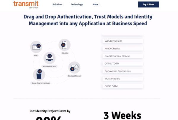 Drag and Drop Authentication, Trust Models and Identity Management into any Application at Business Speed